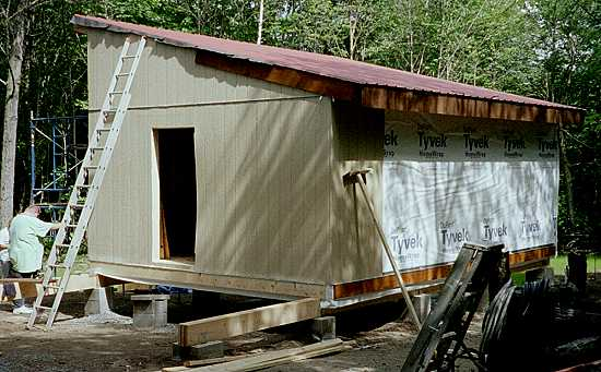 Simple cabins built by their owners for Shed roof cabin