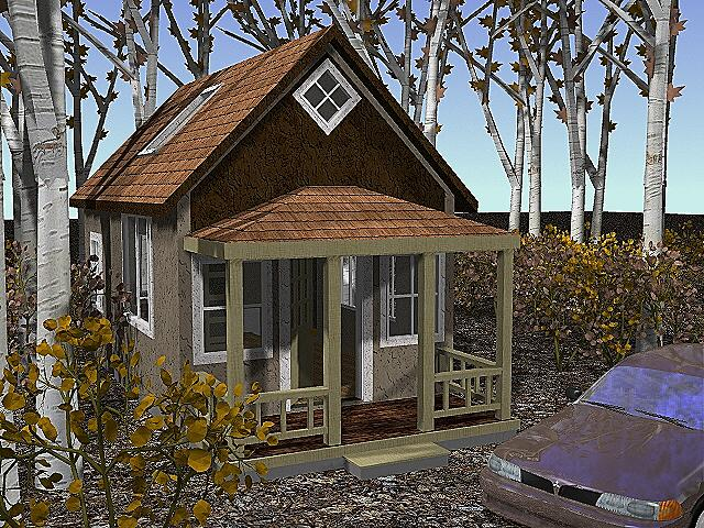 Rendering of 14x24 enchilada cottage upgrade