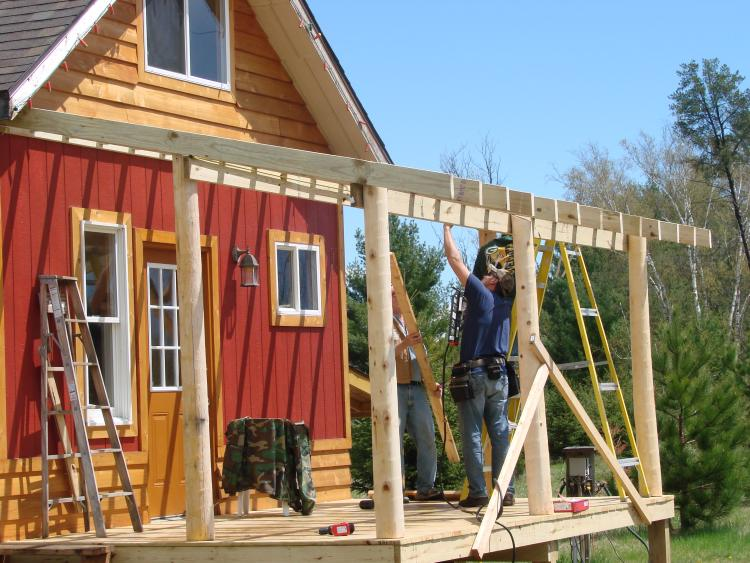 porch addition rafters