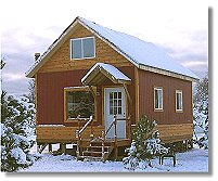 Cottage cabin small country home plans 16x24 owner build cabin malvernweather Images