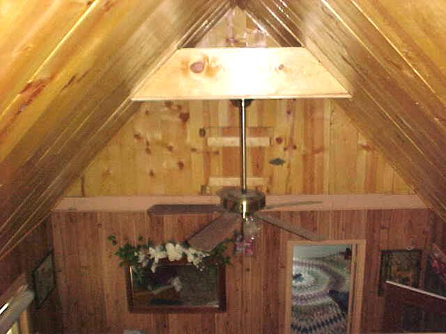 view from the loft of $10,000 cabin