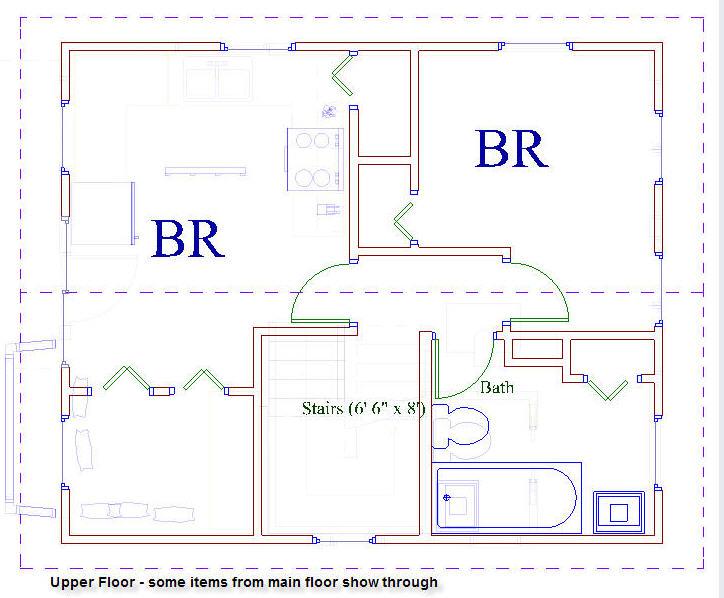 20x24 Universal Cottage – 20 X 20 House Floor Plans