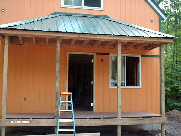 1 1 2 story 20x34 cabin for Porch plans shed roof