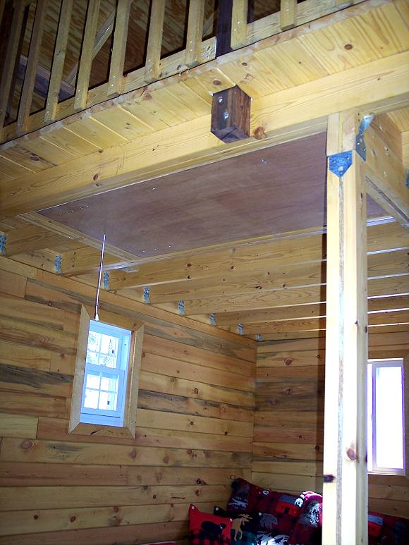 how to build a loft in a cabin