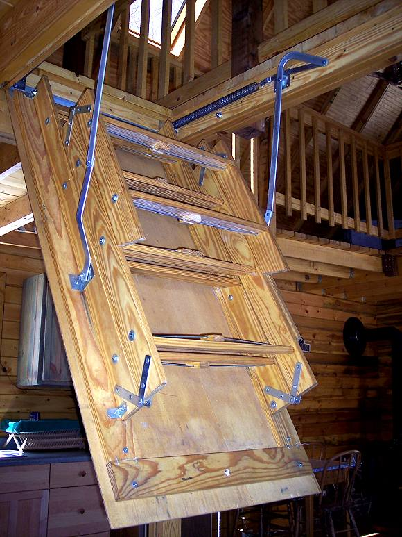pull down ladder to cabin loft #2