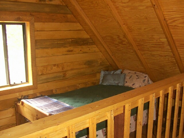 Owner-built 14x24 cabin small loft