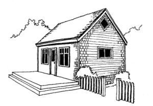 The 14x24 Little House Cottage from CountryPlans.com