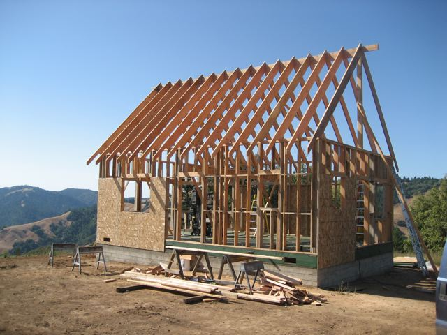 roofing framing of panelized house
