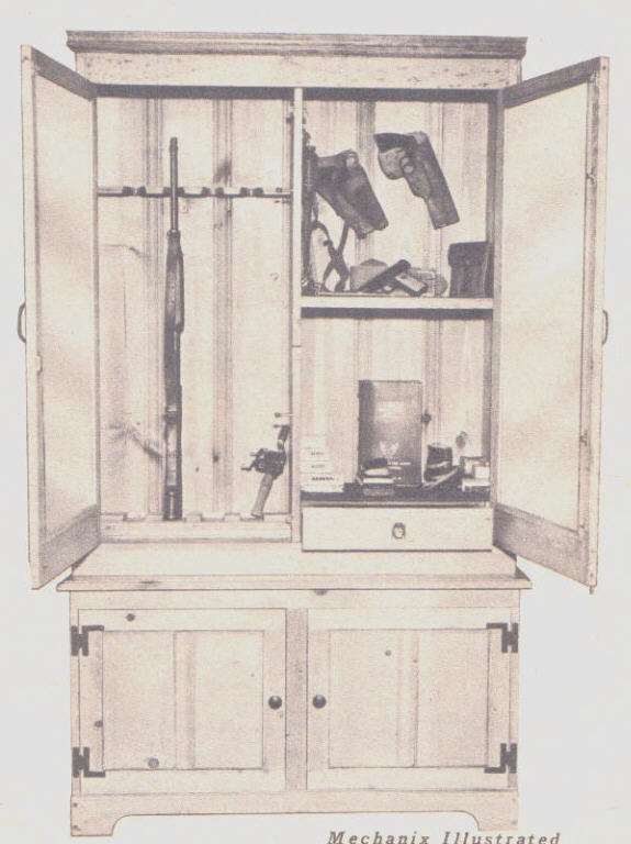 Want to build a gun cabinet to store those antique firearms? Download ...